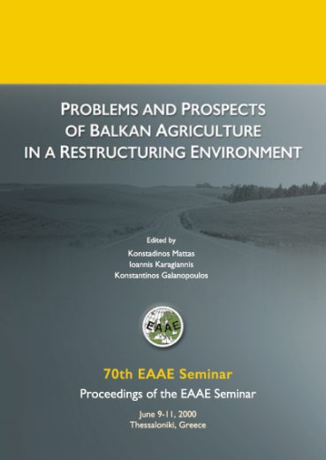 Problems and Prospects of Balkan Agriculture in a Restructuring Environment - Εκδόσεις Ζήτη