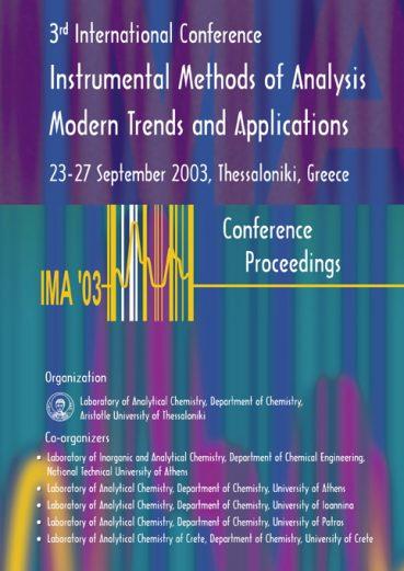 Instrumental Methods of Analysis Modern Trends and Applications - IMA'03 - Εκδόσεις Ζήτη
