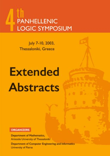 4th Panthellenic Logic Symposium – Extended Abstracts - Εκδόσεις Ζήτη