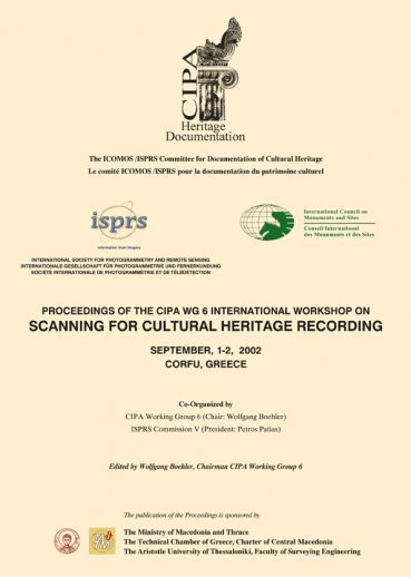 Proceedings of the CIPA WG6 International Workshop on Scanning for Cultural Heritage - Εκδόσεις Ζήτη