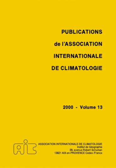 Publications de l'Association Internationale de Climatologie - Εκδόσεις Ζήτη