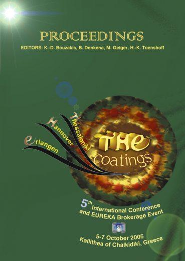 THE coatings, 5th International Conference and EUREKA Brokerage Event - Εκδόσεις Ζήτη